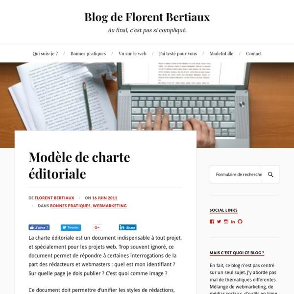 Modèle de charte éditoriale