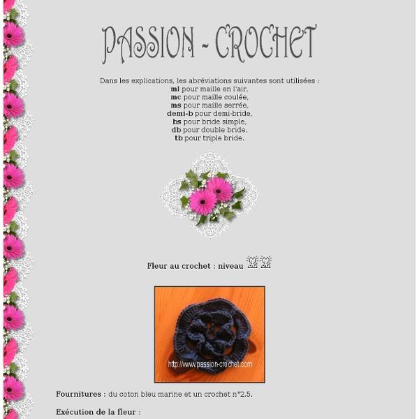 Modèle de fleur au crochet
