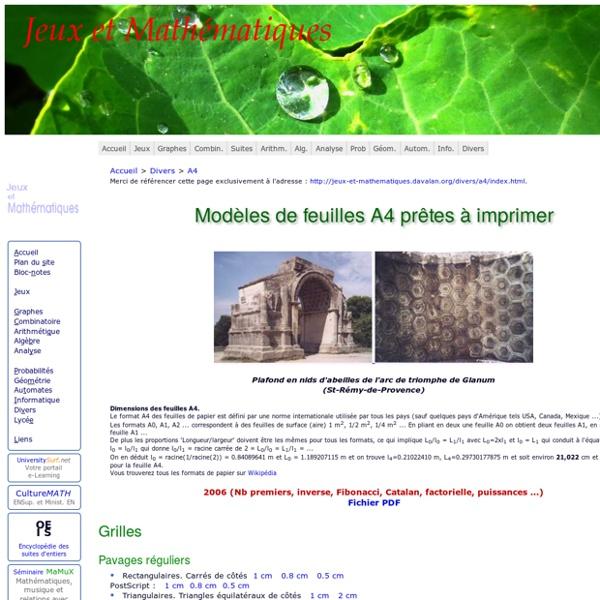 Modèles A4 à imprimer