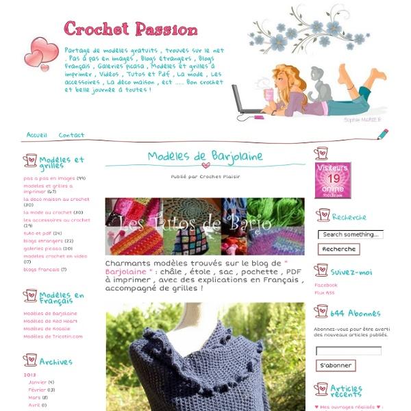 Modèles de Barjolaine - Crochet Passion
