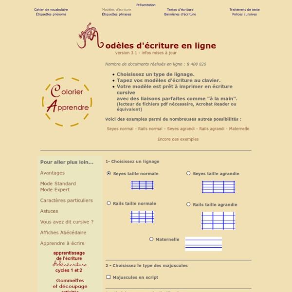 Modèles d'écriture en ligne