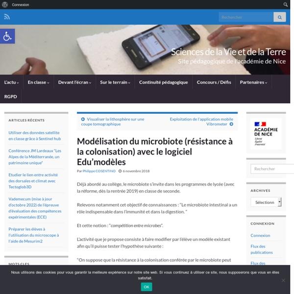 Modélisation du microbiote (résistance à la colonisation) avec le logiciel Edu'modèles