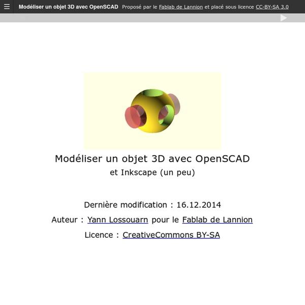 Modéliser un objet 3D avec OpenSCAD
