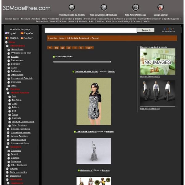 Human 3D Model/CG Models Free Downloads
