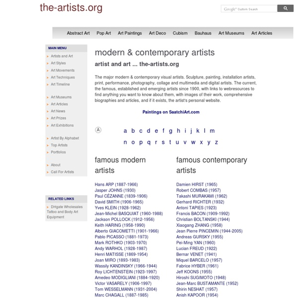 Modern & contemporary artists and art