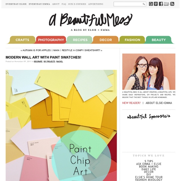 Modern Wall Art with Paint Swatches!
