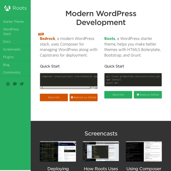 Modern WordPress Development