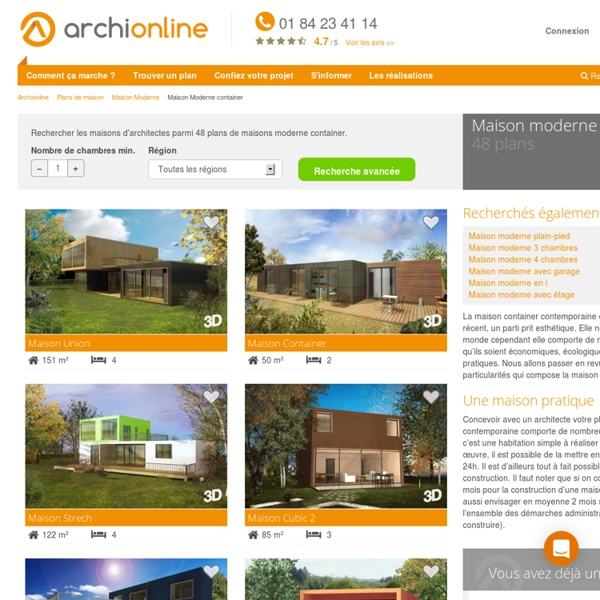Plan de maison moderne container - Archionline | Pearltrees