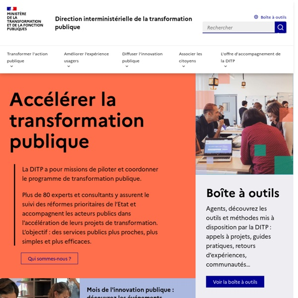 Le portail de la modernisation de l'action publique