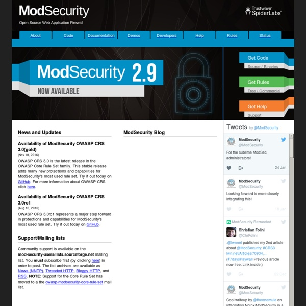 ModSecurity: Open Source Web Application Firewall