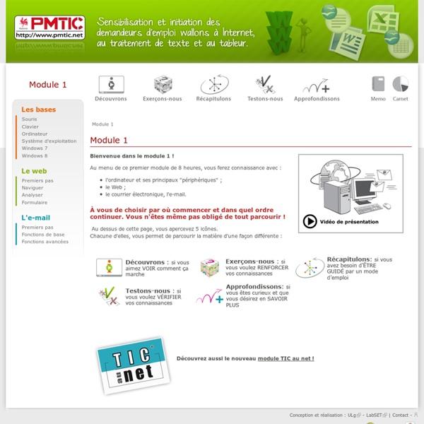 Module 1:les bases le mail le web - PMTIC