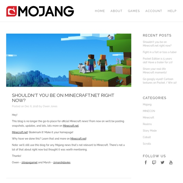 Mojang — Makers of Minecraft - Aurora