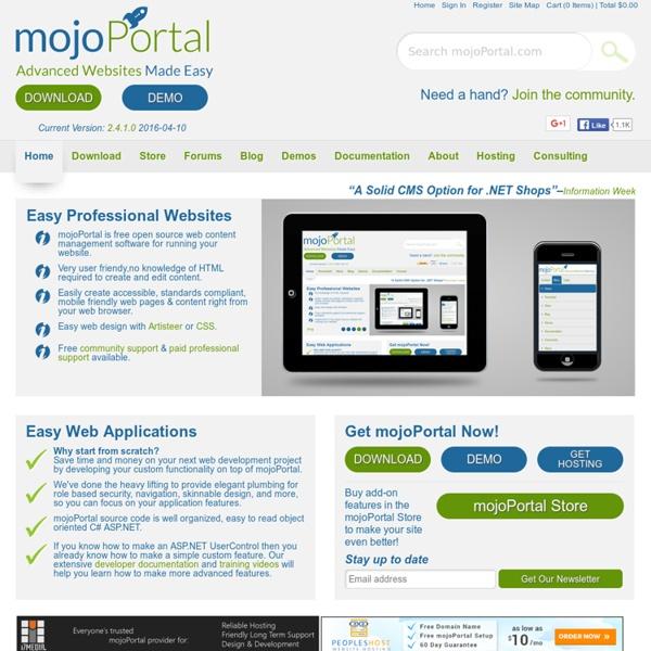 MojoPortal - Advanced Websites Made Easy