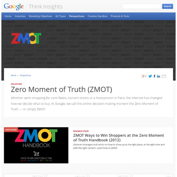 A Modern Marketing Strategy – Social Media Marketing & ZMOT from Google