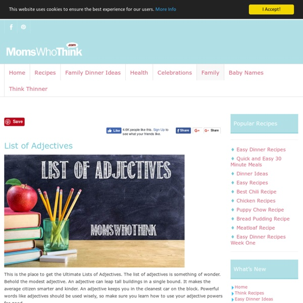 Moms Who Think - List of Adjectives