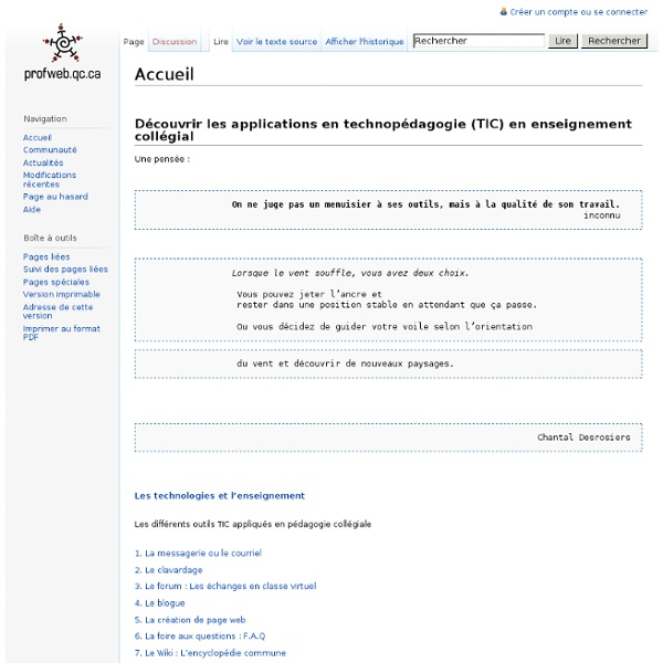 Profweb.qc.ca - Wiki