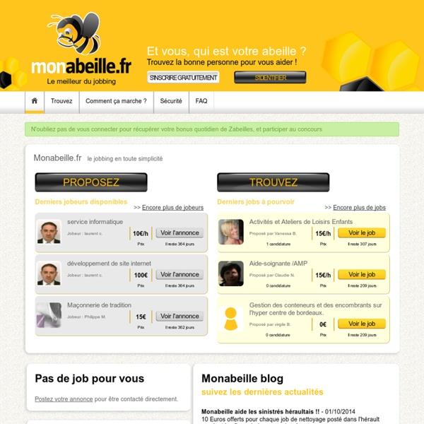 Monabeille.fr, le jobbing en toute simplicité