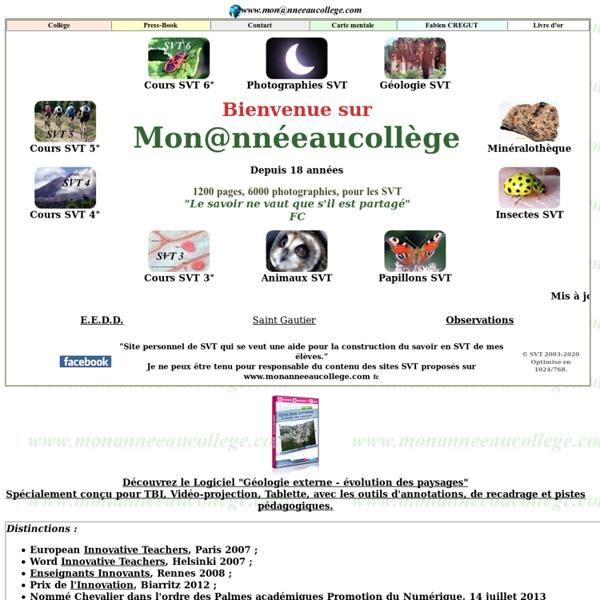 SVT, Sciences de la Vie et de la Terre college, monanneeaucollege