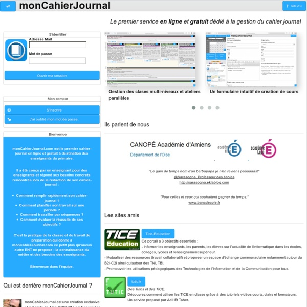 MonCahierJournal - Le Cahier-Journal en ligne