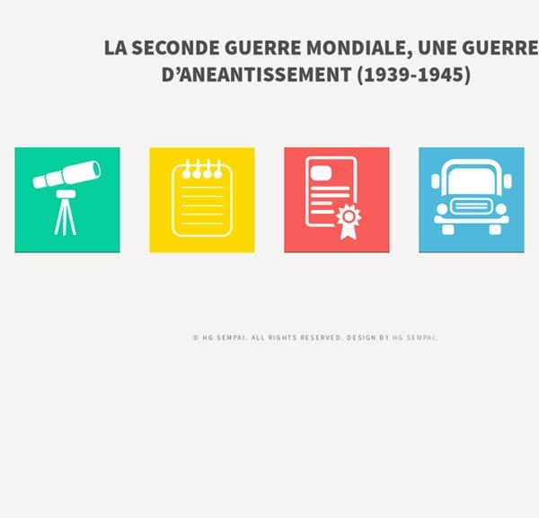 LA SECONDE GUERRE MONDIALE, UNE GUERRE D'ANEANTISSEMENT (1939-1945)
