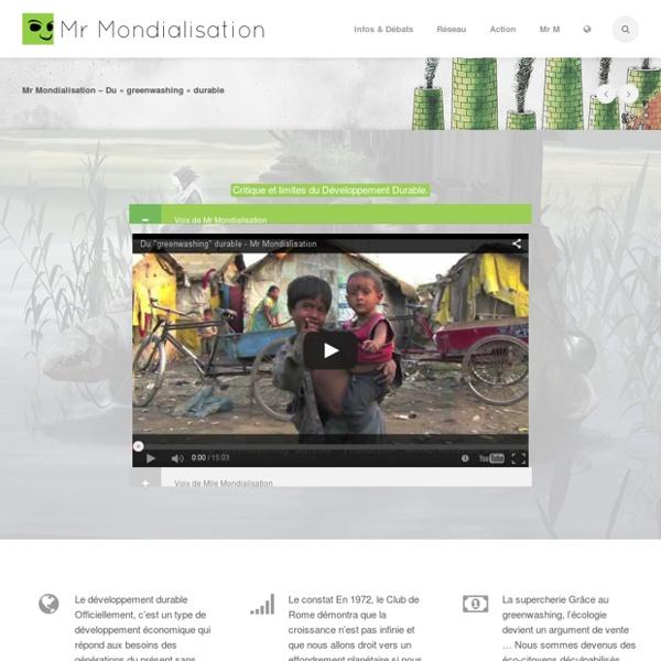 Mr Mondialisation – Du «greenwashing» durable