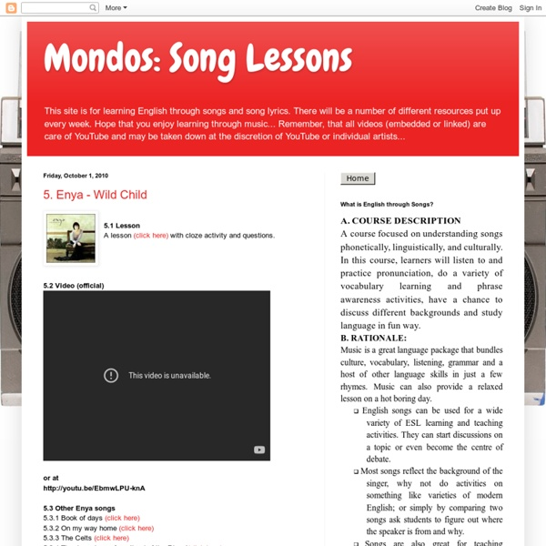 Mondos: Song Lessons