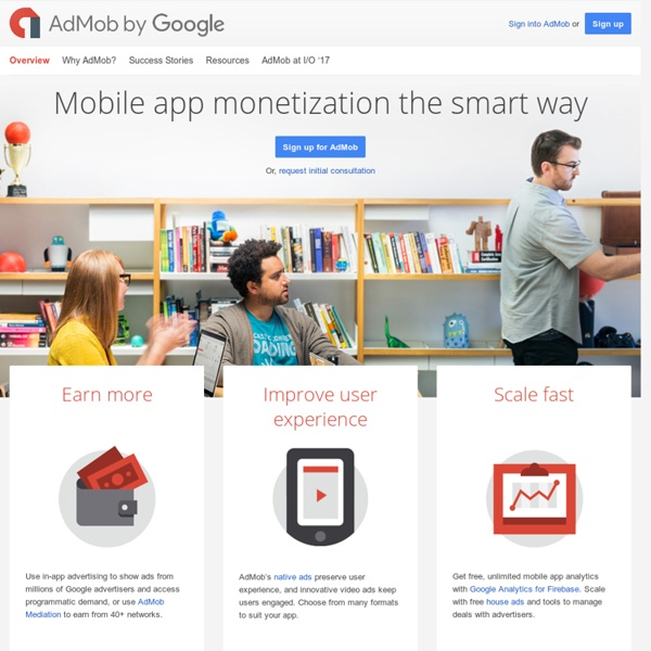 Mobile App Monetization, Analysis & Mediation – Google AdMob