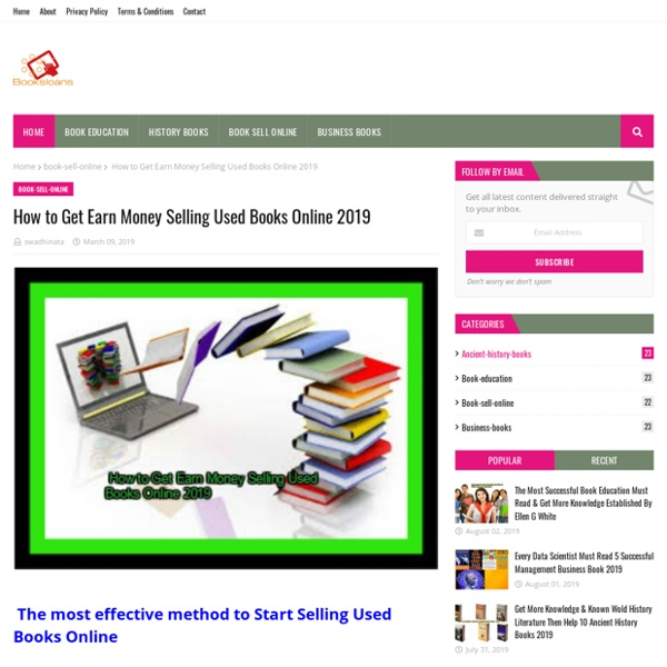 How to Get Earn Money Selling Used Books Online 2019