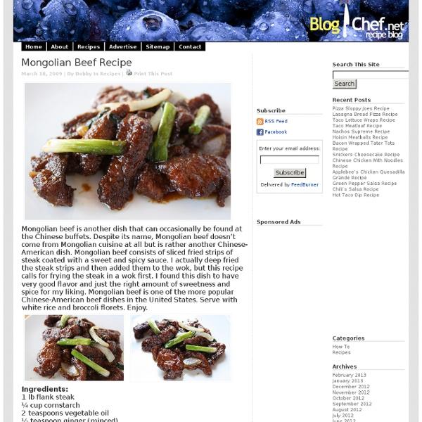Mongolian Beef Recipe