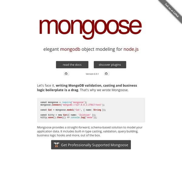 Mongoose ODM v3.6.11