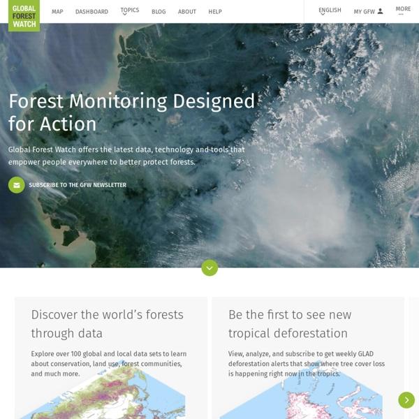 Forest Monitoring, Land Use & Deforestation Trends