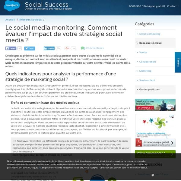 Social media monitoring - Mesurer l'impact d'une stratégie social media ?