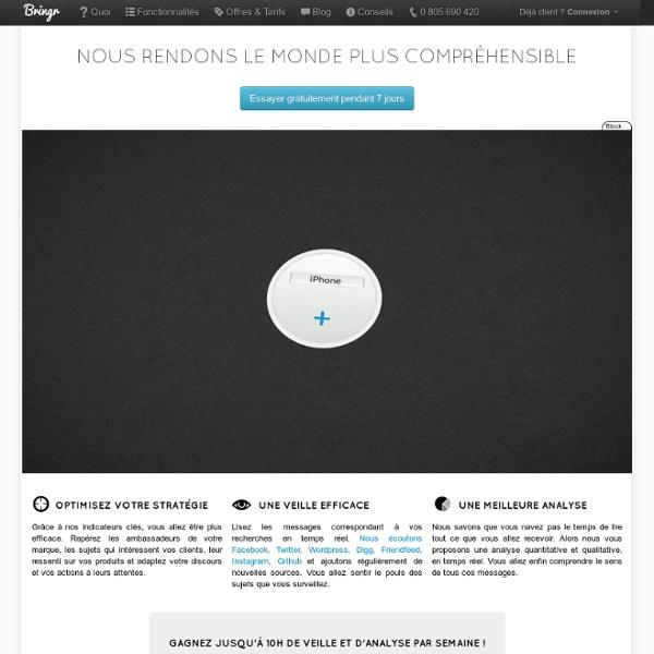 Bringr - monitoring et mesure en temps réel des réseaux sociaux