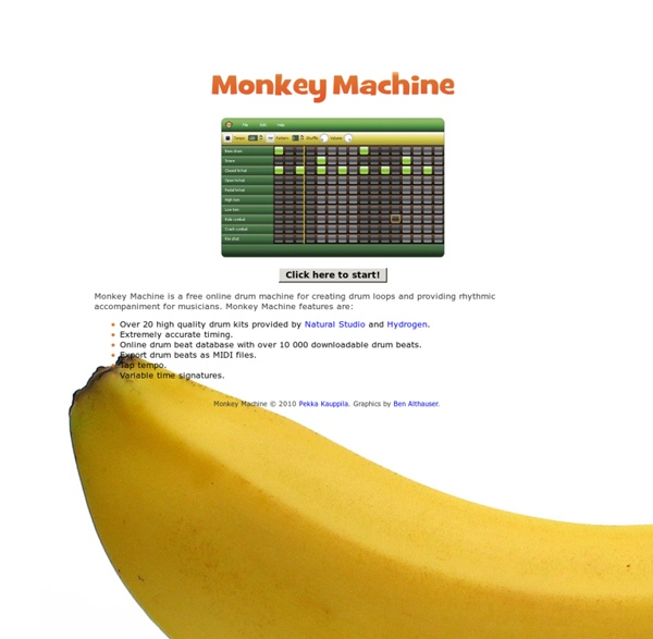 Monkey Machine - online drum machine
