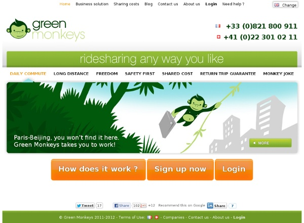 Green Monkeys - Solution de covoiturage dynamique
