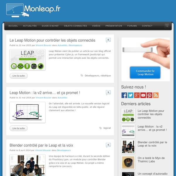 Monleap - Toute l'actualité Leap Motion