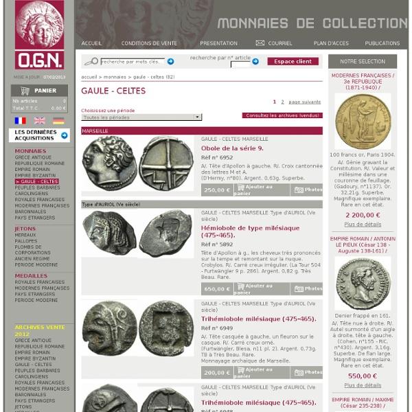 MONNAIES, GAULE - CELTES, ogn-numismatique