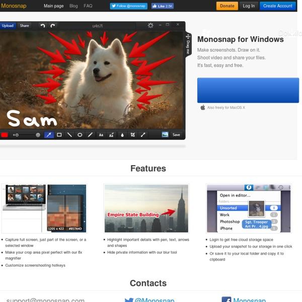Monosnap - Capture d'écrans pour tutoriels