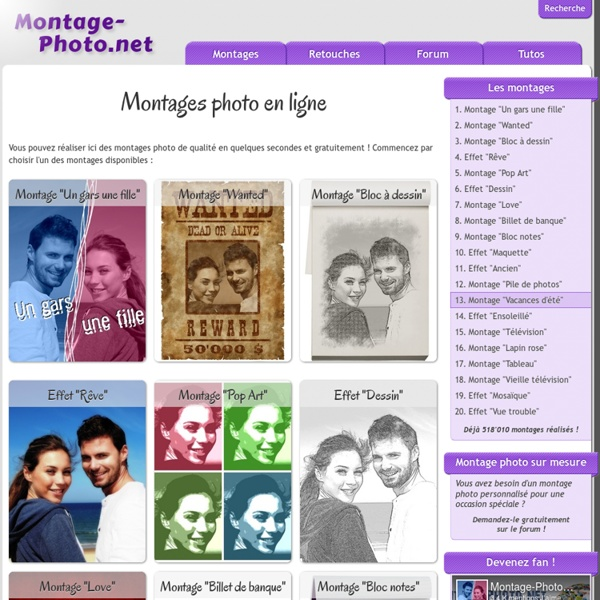 Montages photo en ligne
