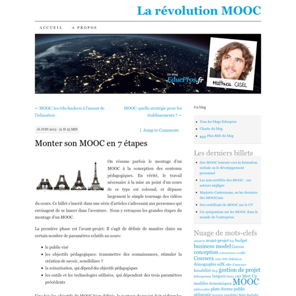 Monter son MOOC en 7 étapes