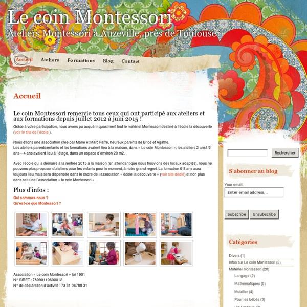 Le coin Montessori