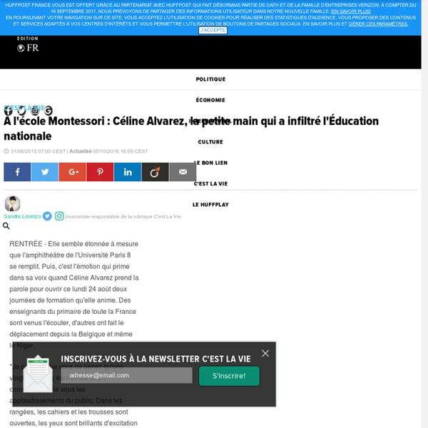 À l'école Montessori : Céline Alvarez, la petite main qui a infiltré l'Éducation nationale
