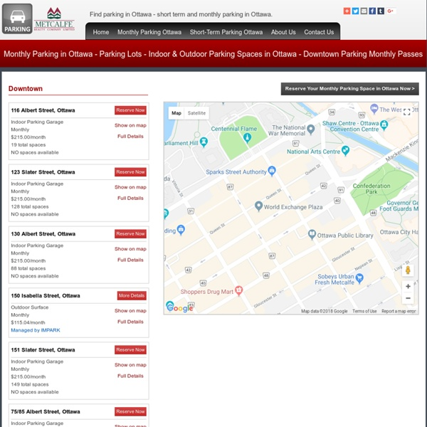 Find Parking in Ottawa - Metcalfe Realty