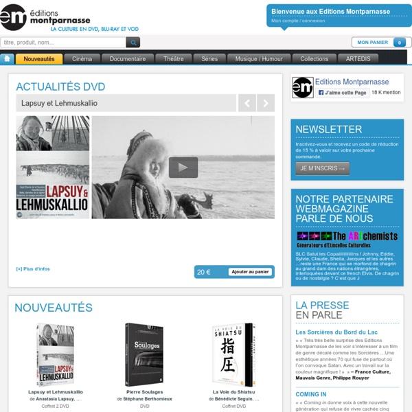 Editions Montparnasse (DVD, VOD, Blu-ray, cinéma, documentaires, théâtre, séries, animation) - Editions Montparnasse - La Culture en DVD, Blu-ray et VOD