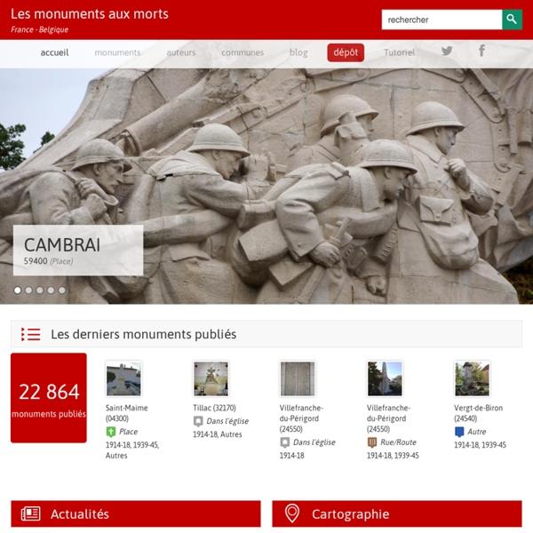 Les monuments aux morts – France et Belgique