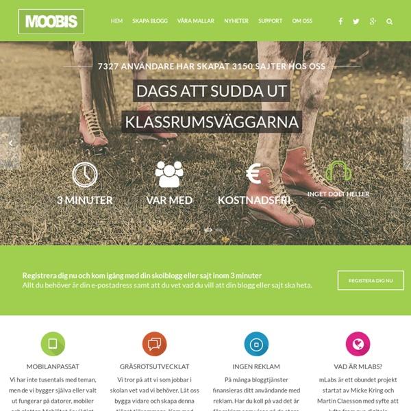 Moobis.se Din favorittjänst när du vill starta skolblogg - moobis.se