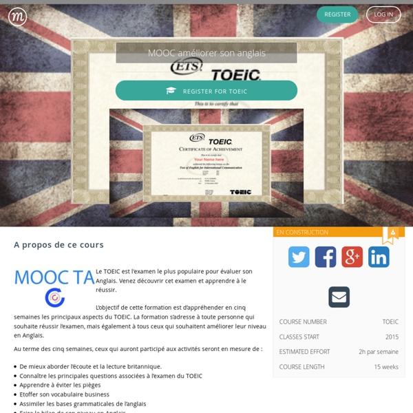 MOOC améliorer son anglais