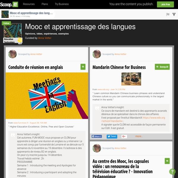 Veille - Mooc & apprentissage des langues