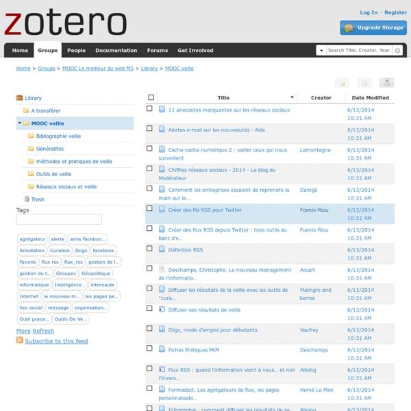 MOOC Le meilleur du web M5 > Library > MOOC veille