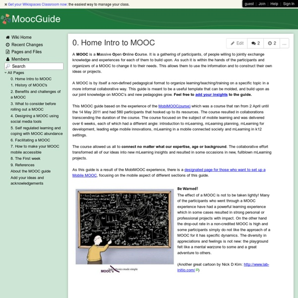 MoocGuide - 0. Home Intro to MOOC